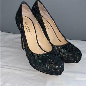 Snake print Marvin K heels size 8